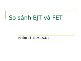 BJT and FET.ppt