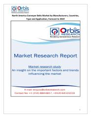 North America Conveyor Belts Market by Manufacturers, Countries, Type and Application, Forecast to 2022.pdf