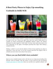 8 Best Party Places to Enjoy Lip-smacking Cocktails in Delhi NCR.pdf