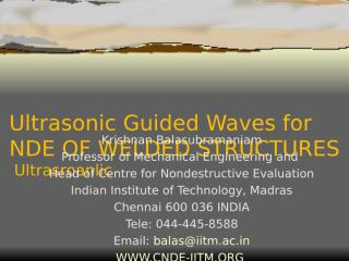 GUIDED WAVE AND WELDING.ppt