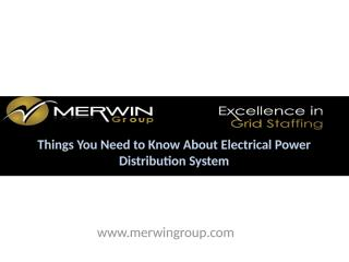 Things You Need to Know About Electrical Power Distribution System.pptx