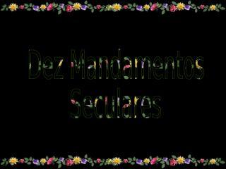 Dez Mandamentos 2.pps