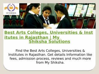 Best Arts Colleges, Universities & Institutes in Rajasthan.pptx