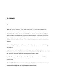 General Psychology Glossary.doc
