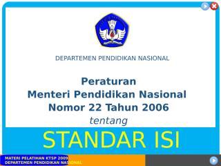 Permendiknas No. 22 Tahun 2006.ppt