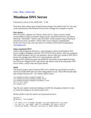 membuat dns server.doc