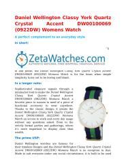 Daniel Wellington Classy York Quartz Crystal Accent DW00100069 (0922DW) Womens Watch.docx