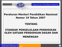 Permendiknas No. 19 Tahun 2007.ppt