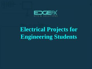 Electrical projects.pptx
