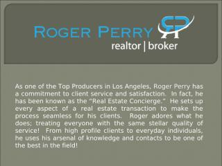 single family homes for rent in Los Angeles - Roger Perry.ppt