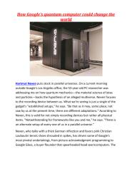 How Google's quantum computer could change the world.pdf