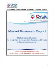 2017 Market Research Report on Global E Cigarettes Industry.pdf