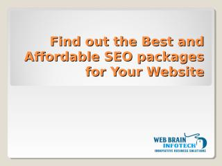 Affordable SEO Packages in India.ppt