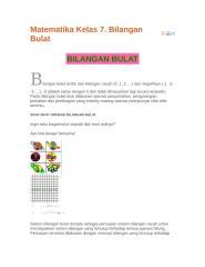 Matematika Kelas 7 bilangan bulat.doc