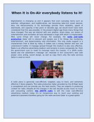 Cost-effective advertising - Radio Production Qatar.docx