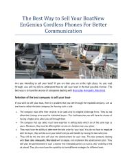 The Best Way to Sell Your BoatNew EnGenius Cordless Phones For Better Communication.pdf